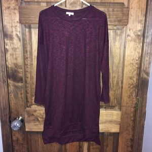 Sweet pea maroon soft sweater dress Tunic!